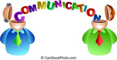 two men with good communication skills - icon people series