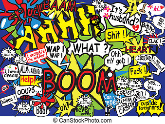 communication, bubble, dialogue, comics, comic strip, explosion, expression, typo, retro, bomb, noise,