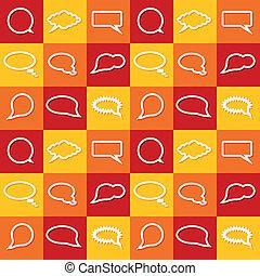 communication bubbles seamless pattern