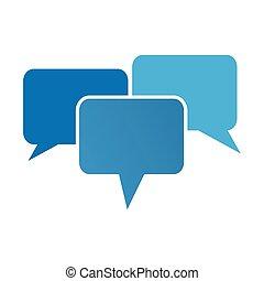 communication bubbles. vector illustrator - communication...
