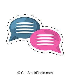 communication, bulles, parole, message, dialogue