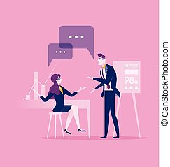 Communication. business Concept illustration