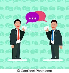 Communication Business concept with businessmen