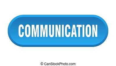 communication button. rounded sign on white background