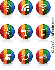 Communication buttons.