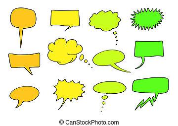 Communication - Cartoon communication speech bubbles set. ...