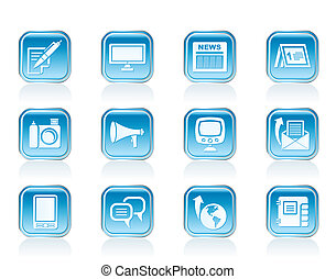 Communication channels icons - Communication channels and...