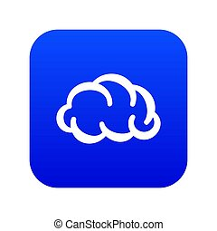 Communication cloud icon blue