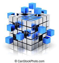 communication, concept, affaires internet, collaboration