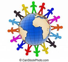 communication, concept., global, association, mondiale