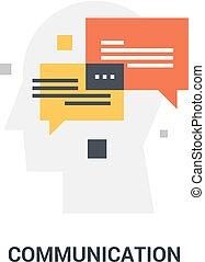 communication, concept, icône