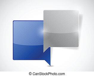 communication concept illustration design