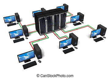 communication, concept, réseau, internet