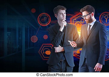 communication, concept, technologie