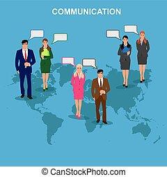 communication concept, vector