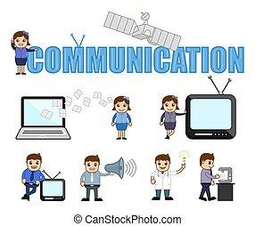 Communication Conceptual Cartoon Vectors