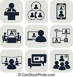 communication., conference., video, handlowy