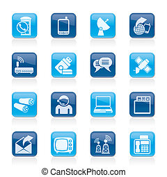 Communication, connection and technology icons - vector icon...