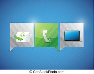 communication contact us concept illustration