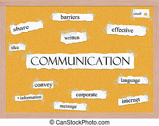 Communication Corkboard Word Concept