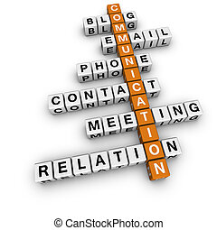 communication crossword  (3D crossword orange series)