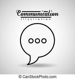 Communication design, vector illustration.