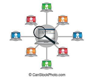 Communication - Laptop Networking communication business...
