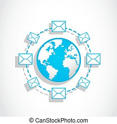 communication,  email, mondiale, messagerie