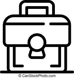 Communication engineer tool box icon, outline style