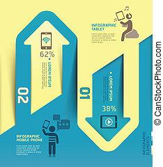 communication., flèche, infographics