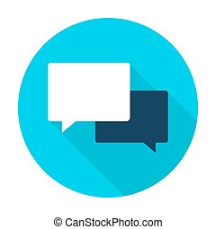 Communication Flat Circle Icon