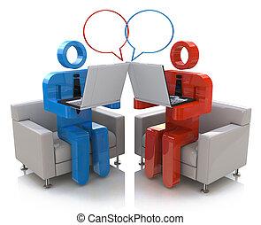 communication., gaworząc, online