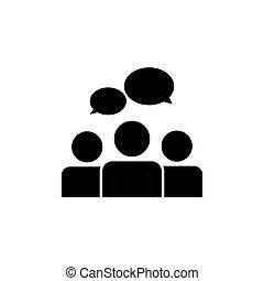 communication, gens, équipe