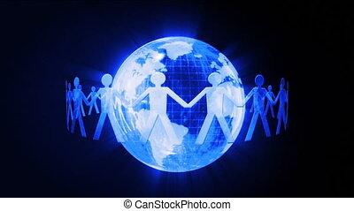 communication, global, chain.