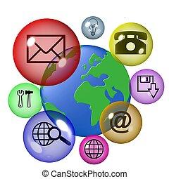 communication, global