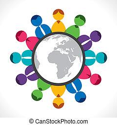 communication, global, réunion, ou