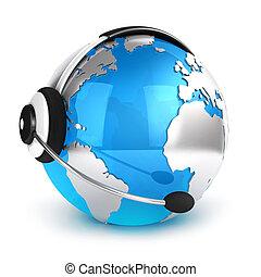 communication globale, concept, 3d