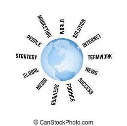 communication globale, concept, business