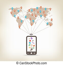 communication globale, smartphone