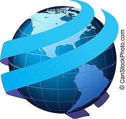 communication globale, vecteur, -