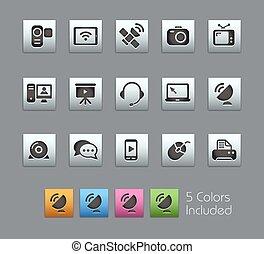 communication, icônes, //, satinbox