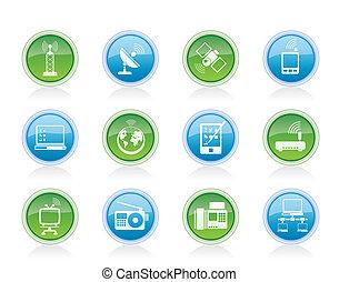 communication, icônes technologie
