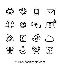 communication, icônes