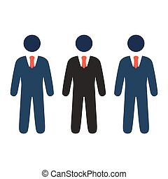 communication icon - group of people, leadership concept.