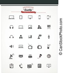 communication icon set