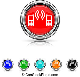 Communication icon - six colours set