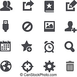 Communication Icons // Apps Interfa