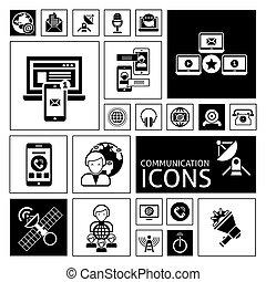 Communication Icons Black