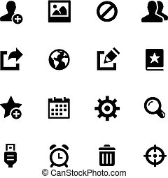 Communication Icons -- Black Series