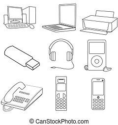 communication icons - illustrations of communication icons...